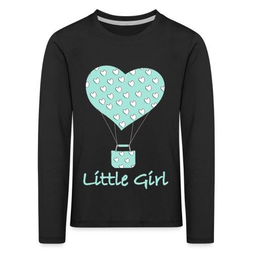 Little Girl in mongolfiera - Maglietta Premium a manica lunga per bambini