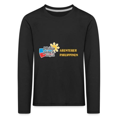 Philippinen-Blog Logo deutsch schwarz/orange - Kinder Premium Langarmshirt