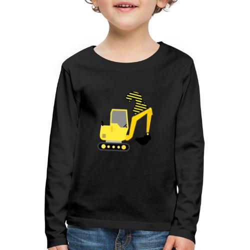Drugie urodziny Koparka - Koszulka dziecięca Premium z długim rękawem