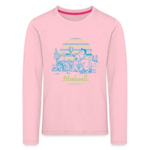 Thelwell Cartoon Pony Sieg - Kinder Premium Langarmshirt