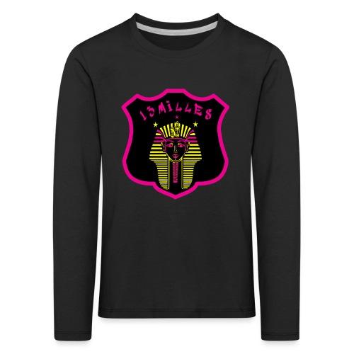 Pharaon Noir, Rose, Jaune hyper design - T-shirt manches longues Premium Enfant