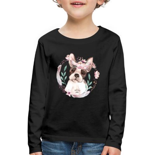 French Bully Flowers - Französische Bulldogge - Kinder Premium Langarmshirt