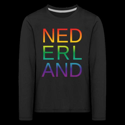 Nederland in de kleur van gay pride regenboog - Kinderen Premium shirt met lange mouwen