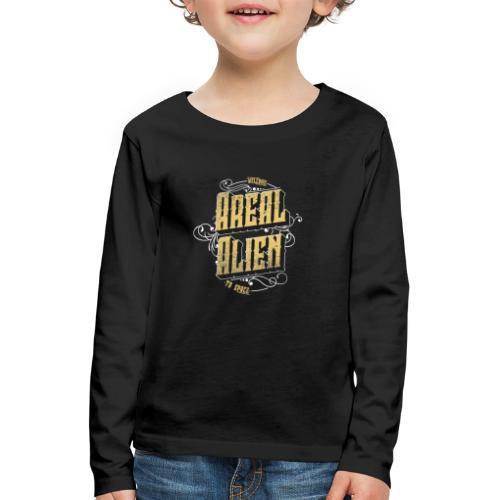 Areal Alien Vintage logo - Premium langermet T-skjorte for barn