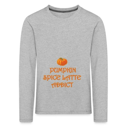 PumpkinSpiceAddict - Maglietta Premium a manica lunga per bambini