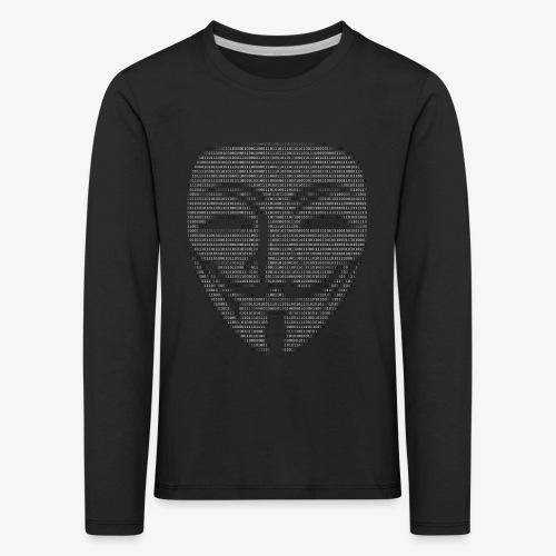 Guy Fawkes Mask Binary - Kids' Premium Longsleeve Shirt