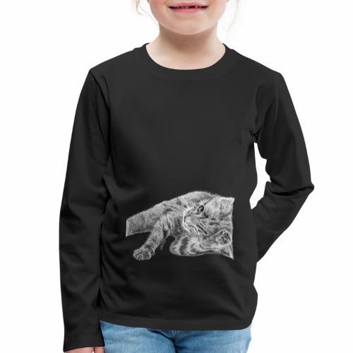 Petit chaton au crayon gris - T-shirt manches longues Premium Enfant