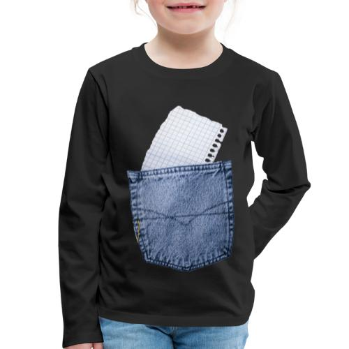 Jeans Baggy by #OneCreativeArts - Kinder Premium Langarmshirt