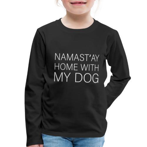 Lustiger Spruch Hundehalter Hundeliebhaber Hund - Kinder Premium Langarmshirt