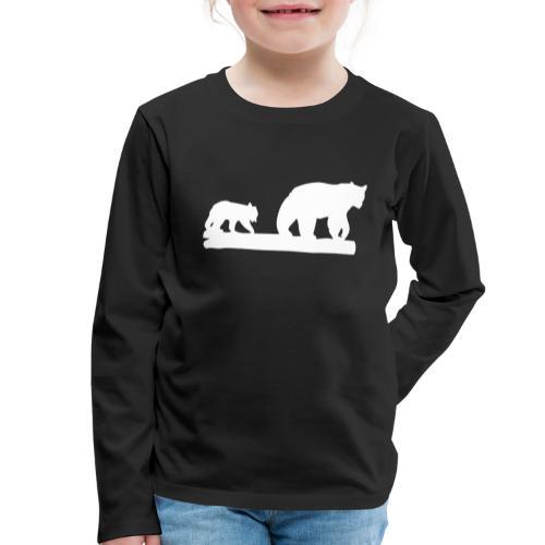 Bär Bären Grizzly Raubtier Wildnis Nordamerika - Kinder Premium Langarmshirt