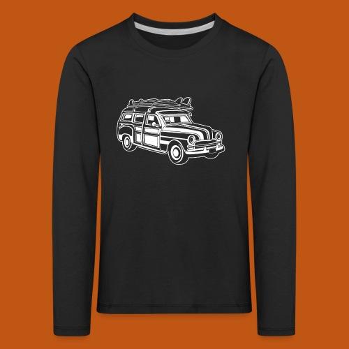 Chevy Cadilac Woodie / Oldtimer Kombi 01_weiß - Kinder Premium Langarmshirt