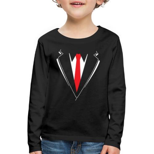 Vlinderdas of stropdas kostuum. - Kinderen Premium shirt met lange mouwen