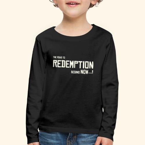 Wild West Game Text Design - Kids' Premium Longsleeve Shirt
