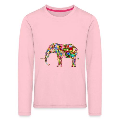 Gestandener Elefant - Kinder Premium Langarmshirt