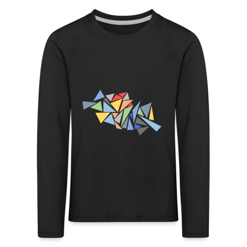 Modern Triangles - Kids' Premium Longsleeve Shirt