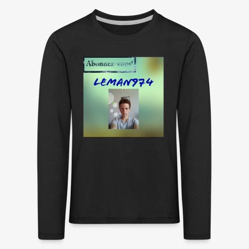 Leman974 logo - T-shirt manches longues Premium Enfant