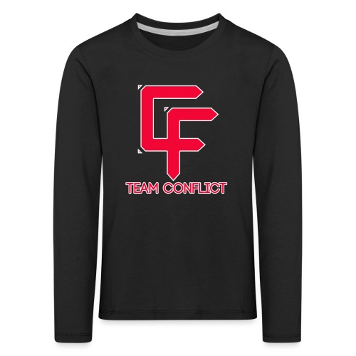CF Final White Border t shirts with text - Kids' Premium Longsleeve Shirt