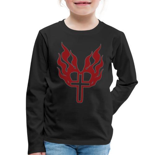 Cross and flaming hearts 02 - Kids' Premium Longsleeve Shirt