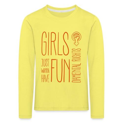Girls just wanna have fundamental rights - Kinder Premium Langarmshirt