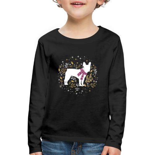 French Bulldog Winter - Kinder Premium Langarmshirt