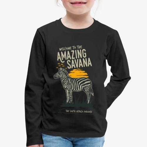Zèbre - T-shirt manches longues Premium Enfant