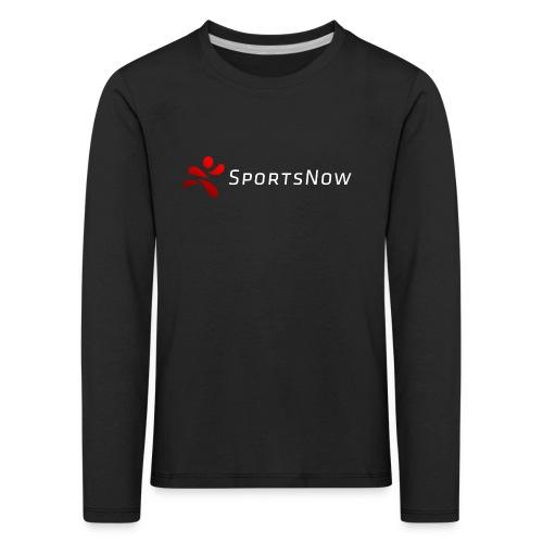 SportsNow-Logo mit weisser Schrift - Kinder Premium Langarmshirt