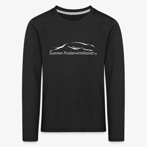 SUP logo valkea - Lasten premium pitkähihainen t-paita