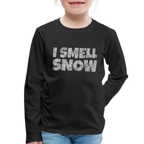 I Smell Snow (Grau) Schnee, Winter, Wintersport - Kinder Premium Langarmshirt
