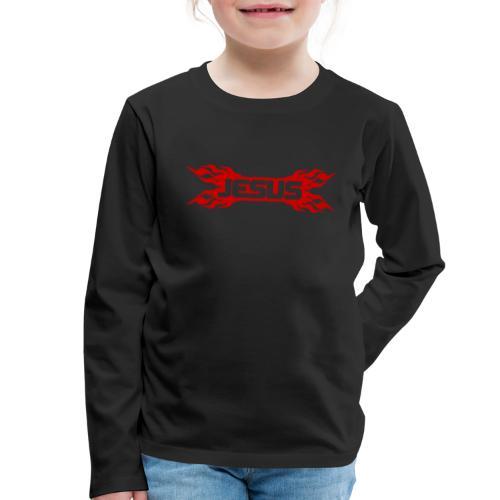 Flaming Jesus Logo 01 - Kids' Premium Longsleeve Shirt