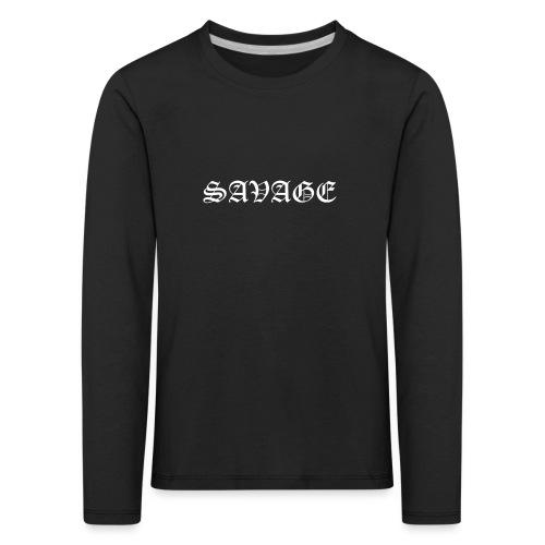 Savage - Maglietta Premium a manica lunga per bambini