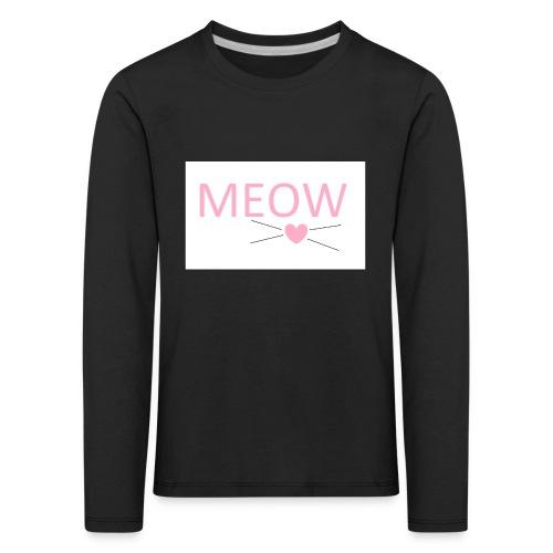 MEOW - Koszulka dziecięca Premium z długim rękawem