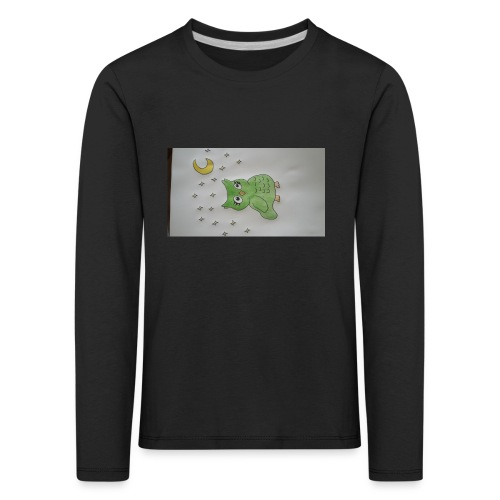 Grüne eule - Kinder Premium Langarmshirt