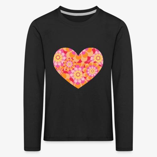 Floral Hearts - Kids' Premium Longsleeve Shirt