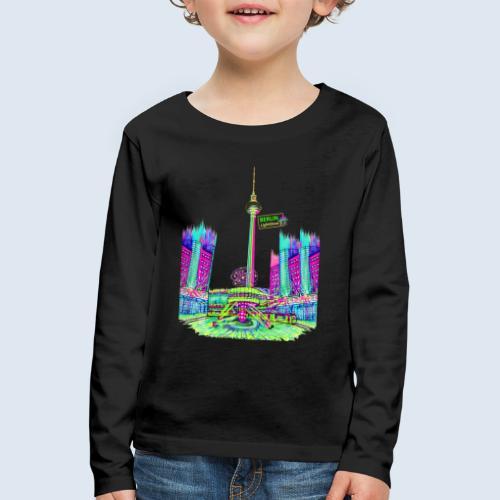 "Berliner Original ""Alexanderplatz"" PopArt Design - Kinder Premium Langarmshirt"
