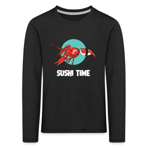 SUSHI TIME-gambero-b - Maglietta Premium a manica lunga per bambini