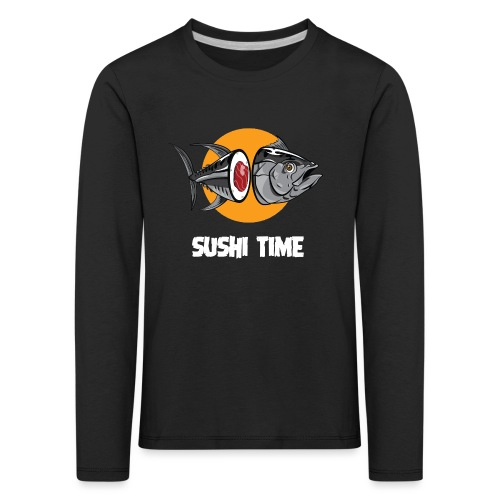 SUSHI TIME-tonno-b - Maglietta Premium a manica lunga per bambini