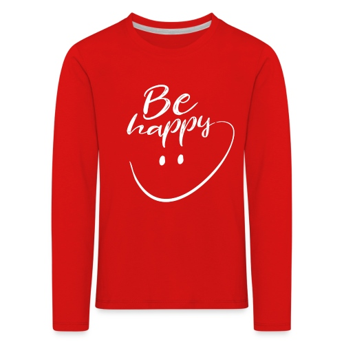 Be Happy With Hand Drawn Smile - Kids' Premium Longsleeve Shirt