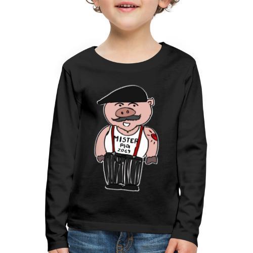 nouvel an chinois - Monsieur Cochon - T-shirt manches longues Premium Enfant