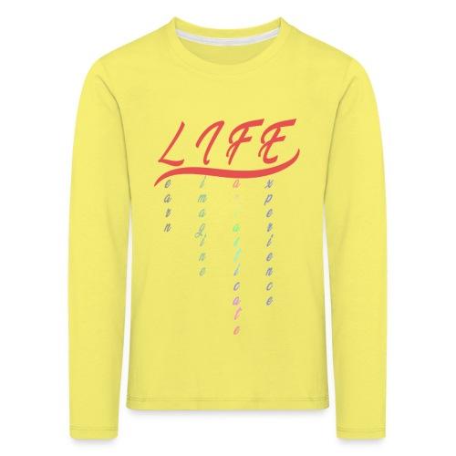 Life - Maglietta Premium a manica lunga per bambini