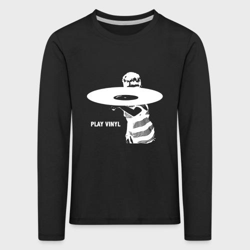 T-Record - Play Vinyl - Kinderen Premium shirt met lange mouwen