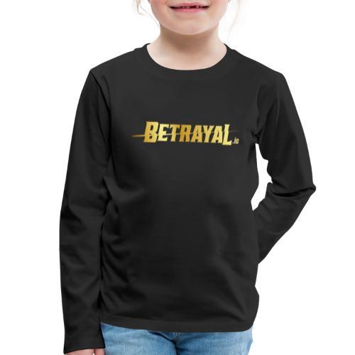 00417 Betrayal dorado - Camiseta de manga larga premium niño
