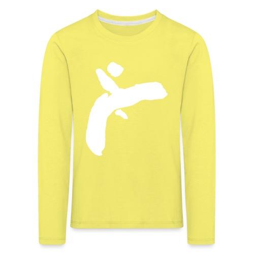 Martial Arts Kick - Slhouette Minimal Wushu Kungfu - Kids' Premium Longsleeve Shirt