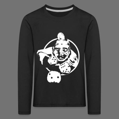 Professional Gambler (1c valkoinen) - Lasten premium pitkähihainen t-paita