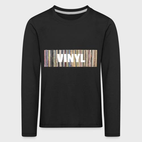 T-Record - Vinyl 'Alles op een rij' - Kinderen Premium shirt met lange mouwen