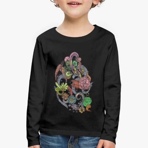 Flower Power - Rough - Långärmad premium-T-shirt barn