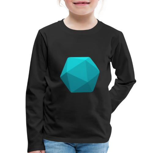 Blue d20 - D&D Dungeons and dragons dnd - T-shirt manches longues Premium Enfant