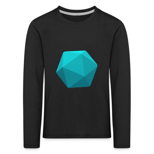 Blue d20 - D&D Dungeons and dragons dnd - Lasten premium pitkähihainen t-paita