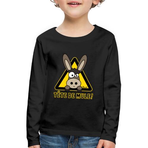 Âne, Tête de mule, tetu - T-shirt manches longues Premium Enfant