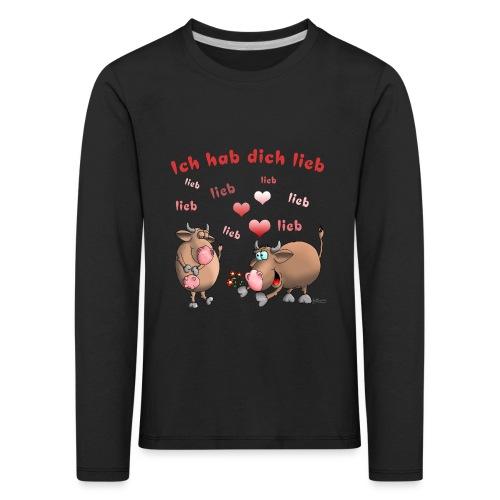 Liebe - Heiratsantrag - Kinder Premium Langarmshirt