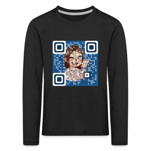 nattieQR - Børne premium T-shirt med lange ærmer